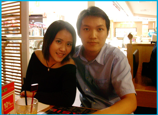 Birthday Dinner @ Basil, Bangsar Village: ME and Brian