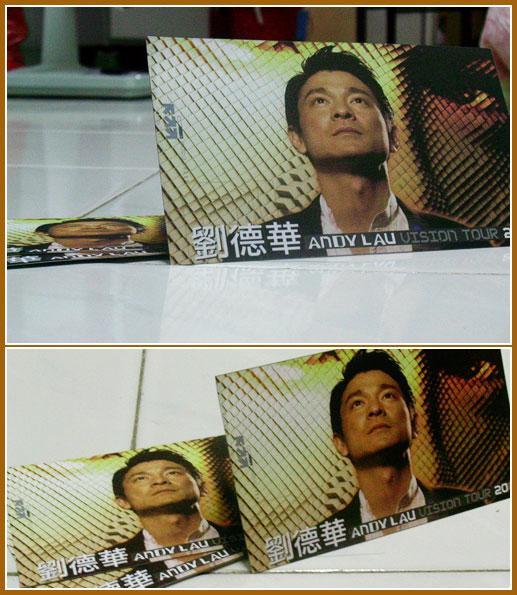Andy Lau Vision Tour 2005 Postcard