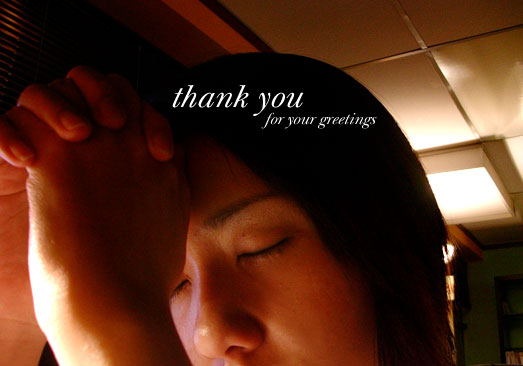 Thank You for your greetings~