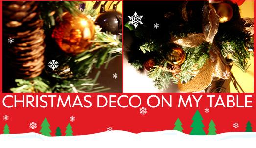 Christmas Deco On My Table