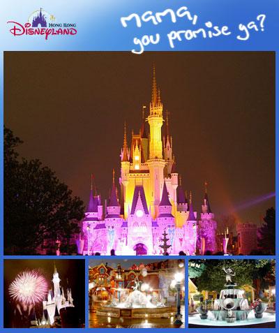 Hong Kong Disneyland: Mama, you promise ya?