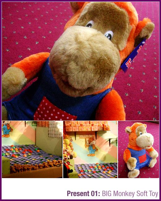Present From Dad: BIG Monkey Soft Toy
