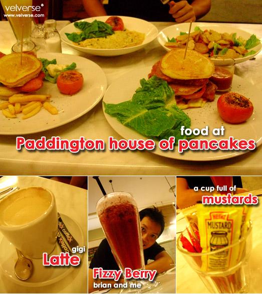 Food at Paddington house of pancakes