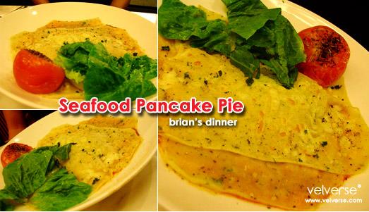 brian's dinner: Seafood Pancake Pie