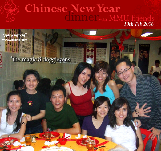 Chinese New Year dinner with MMU friends.