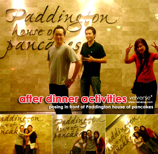 Dinner at Paddington house of pancakes