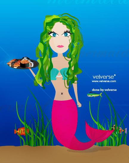 mermaid - done by velverse