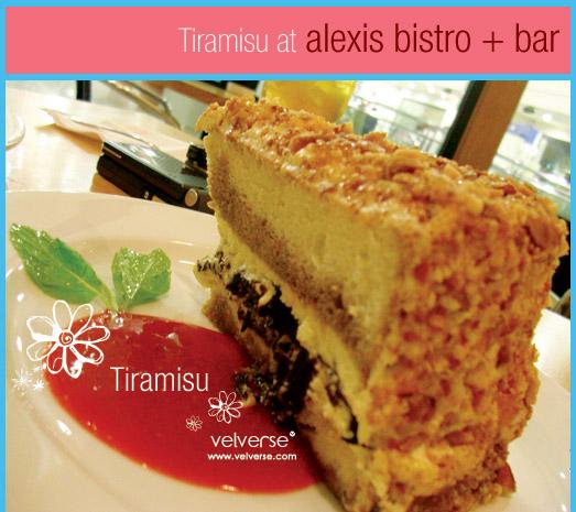 Tiramisu @ Alexis Bistro and Wine Bar
