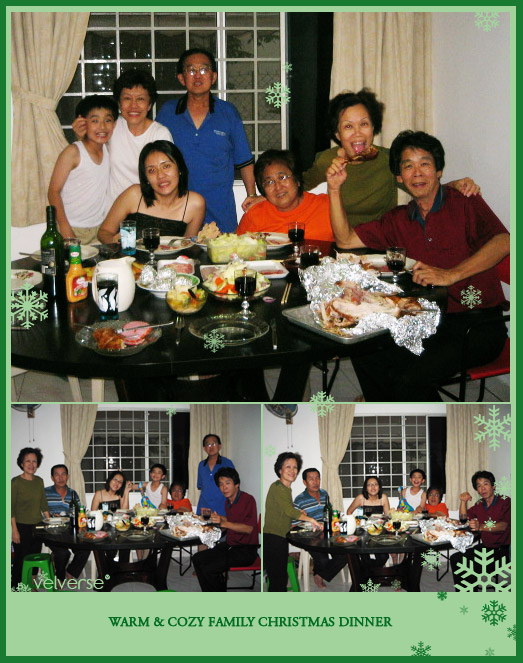 Christmas Dinner at Aunt's house