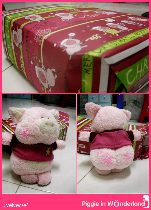 Christmas Present from Eunice - Pink Piggie