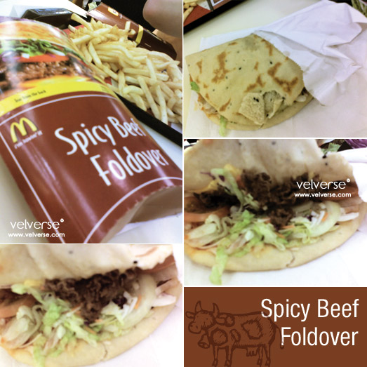 Spicy Beef Foldover