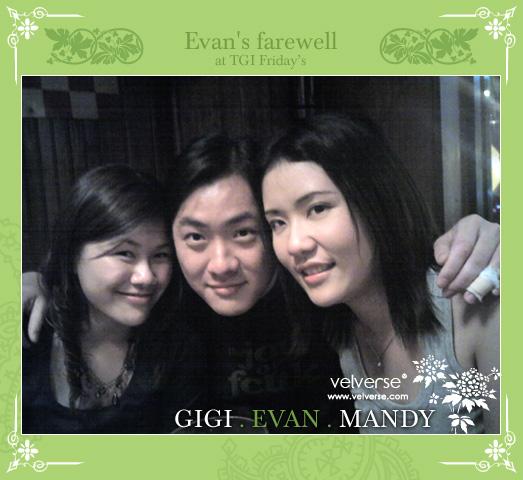 Evan's Farewell at TGIFs