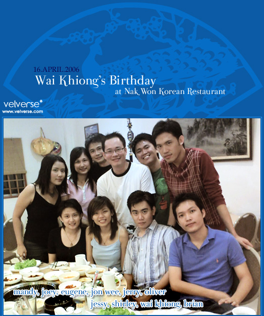 Wai Khiong's Birthday Dinner