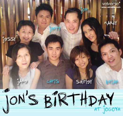 Jon's birthday at jogoya