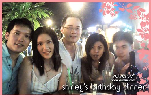 Shirley's Birthday Dinner