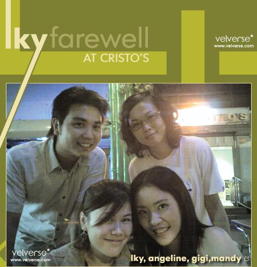 LKY's Farewell at Cristo's