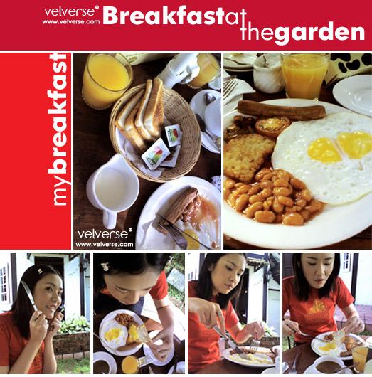 Breakfast at the garden