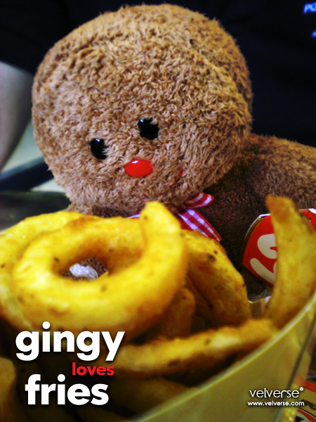 Gingy loves fries