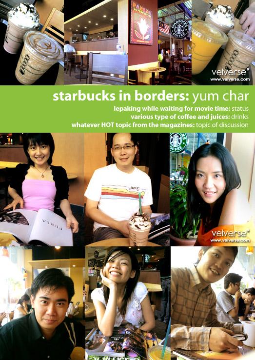 starbucks in borders: yum char