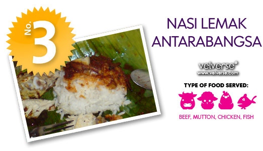 top 5 food velverse loves: Nasi Lemak Antarabangsa