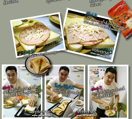 Cheeezy Salami Sandwich