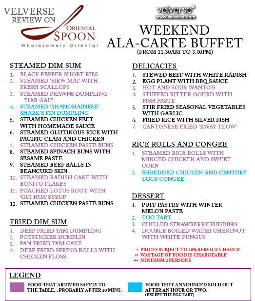 Oriental Spoon Weekend Ala-Carte Buffet
